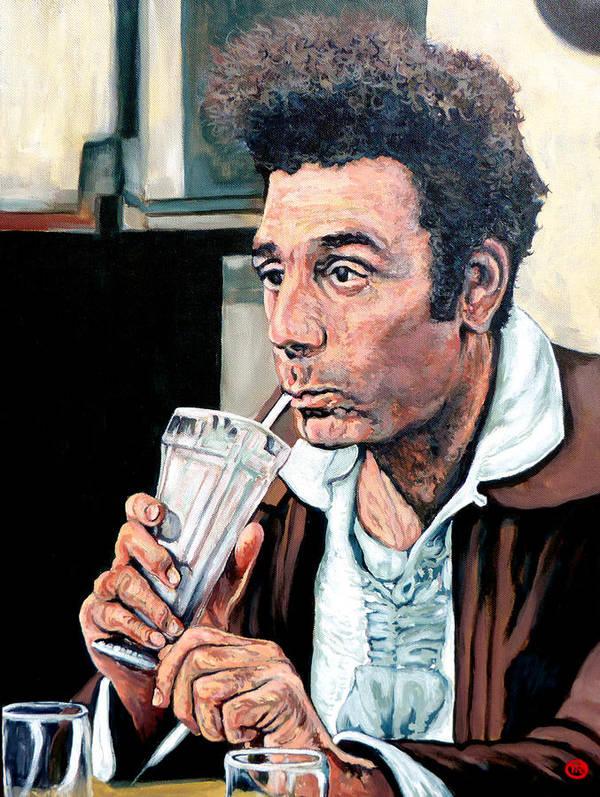 Kramer Portrait Poster featuring the painting Kramer by Tom Roderick