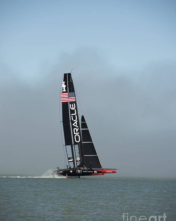 Team Oracle Poster featuring the photograph L I F T O F F -- U S A  Wins by David Bearden