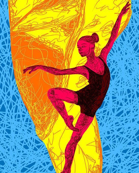 La Ballerina Du Juilliard Poster featuring the painting La Ballerina Du Juilliard by Kenal Louis