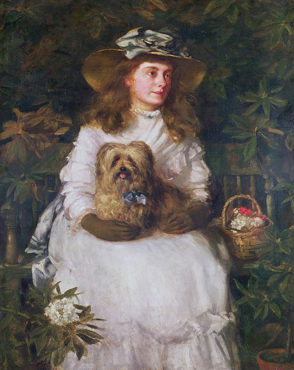 Dog Hat Poster featuring the painting La Jeunesse, 1884 by Patrick William Adam