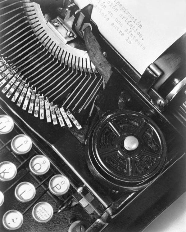 Photography Poster featuring the photograph La Tecnica - The Typewriter Of Julio by Tina Modotti