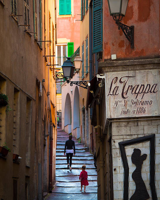 Cote D'azur Poster featuring the photograph La Trappa by Inge Johnsson