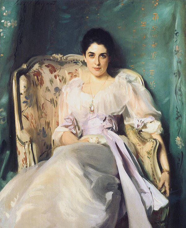 John Singer Sargent Poster featuring the painting Lady Agnew Of Lochnaw by John Singer Sargent