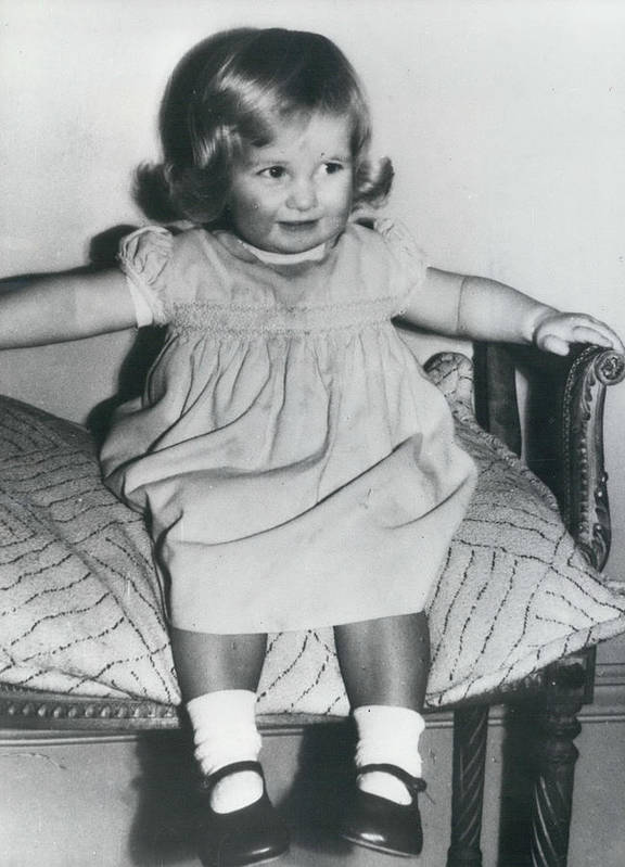 retro Images Archive Poster featuring the photograph Lady Diana A Chubby Two-year Old by Retro Images Archive