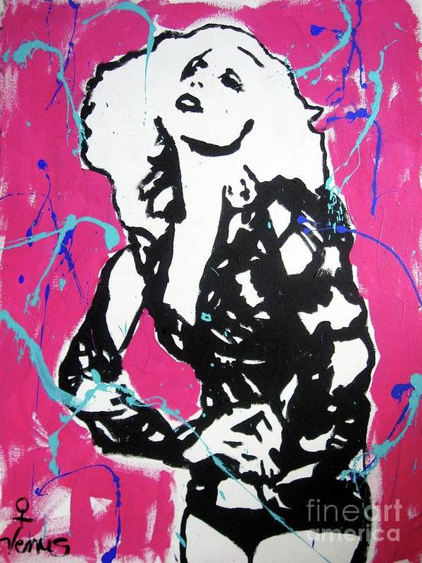 Lady Gaga Poster featuring the painting Lady Gaga by Venus