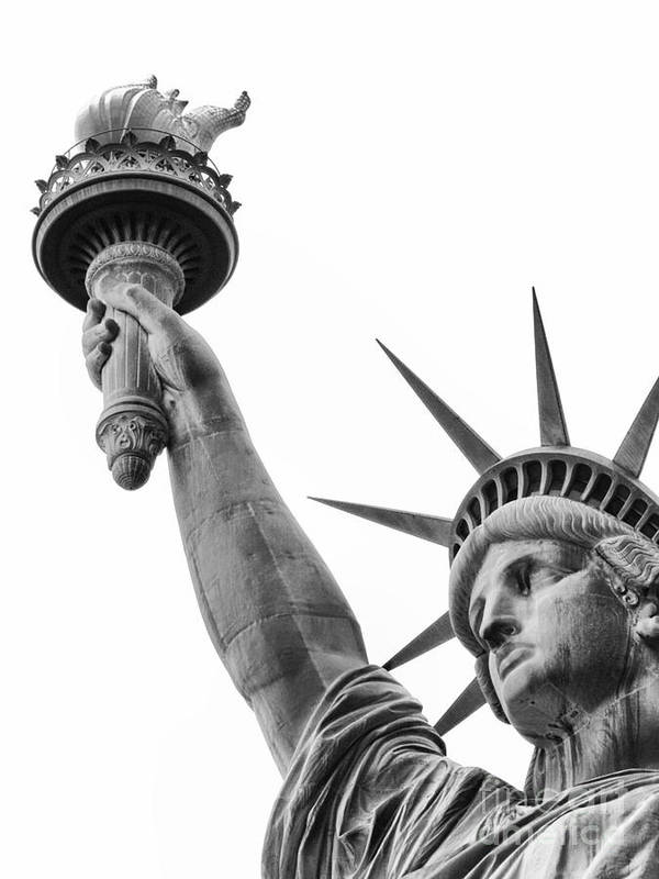 Statue Poster featuring the photograph Lady Liberty by Eric Kessler