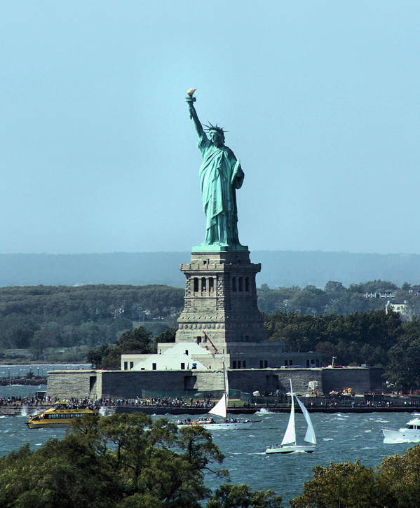 Statue Of Liberty Poster featuring the photograph Lady Liberty by Kristin Elmquist