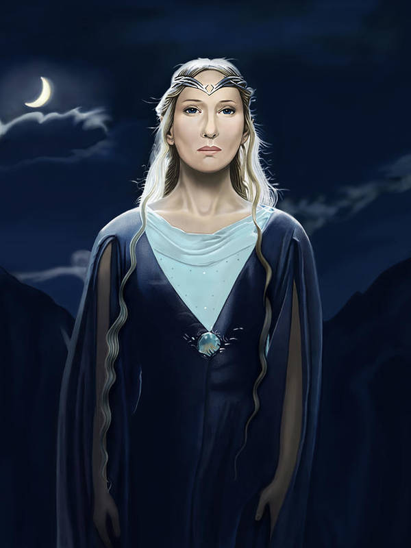 Cate Blanchett Poster featuring the digital art Lady Of The Galadrim by Andrew Harrison