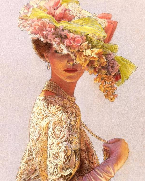 Portrait Poster featuring the painting Lady Victoria Victorian Elegance by Sue Halstenberg