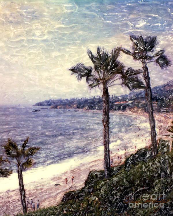 Laguna Beach Poster featuring the photograph Laguna Beach Palm Vista by Glenn McNary
