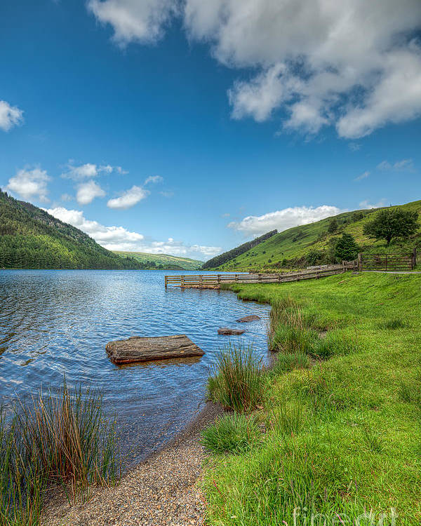 Beach Poster featuring the photograph Lake In Wales by Adrian Evans