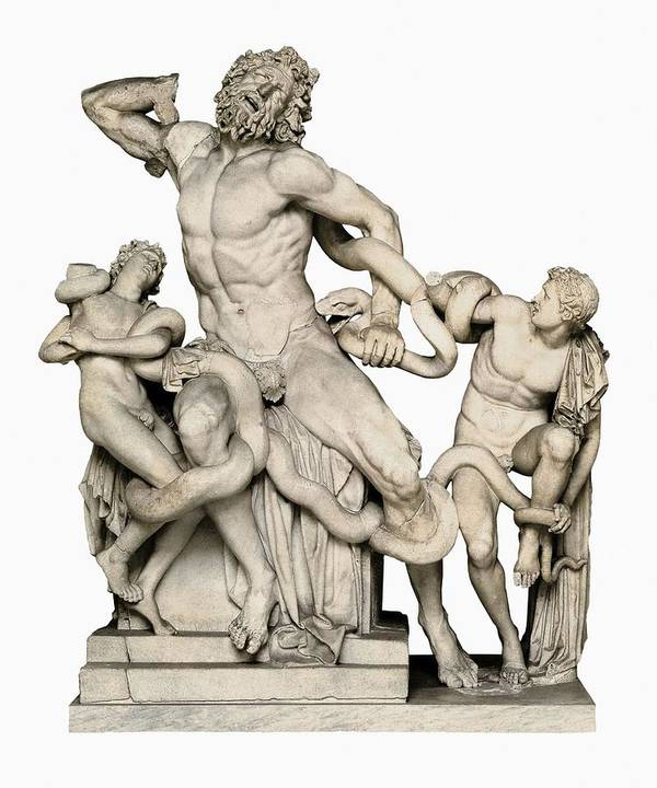 Vertical Poster featuring the photograph Laocoon With His Sons. 1st C. Bc by Everett
