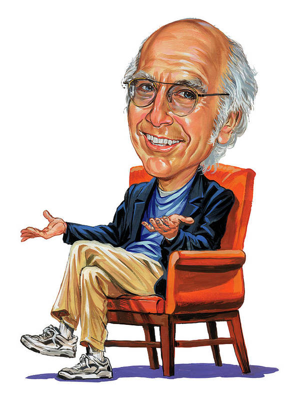 Larry David Poster featuring the painting Larry David by Art