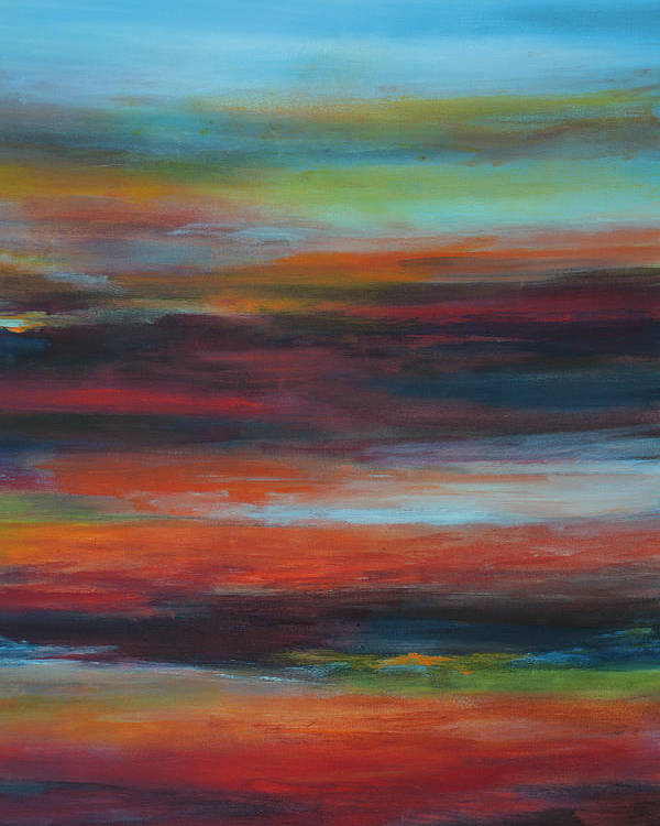 Abstract Poster featuring the painting Layers IIi by Andrada Anghel