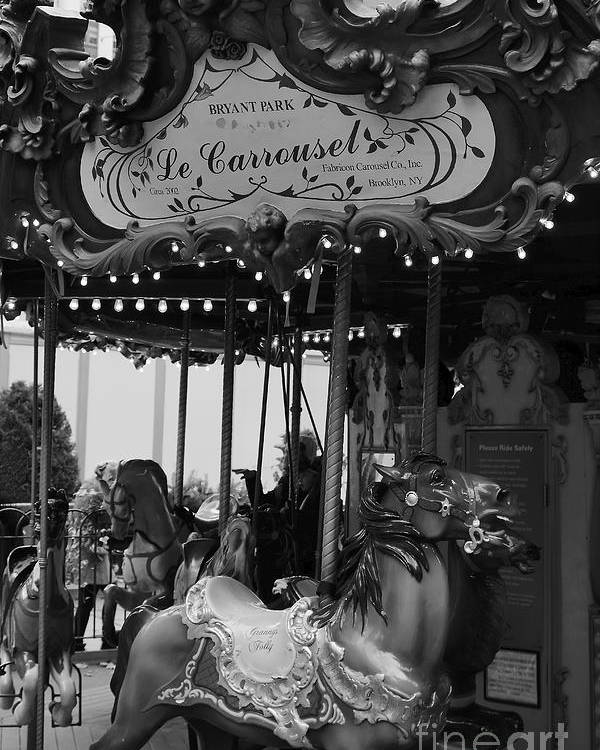 New York City Poster featuring the photograph Le Carrousel by David Rucker