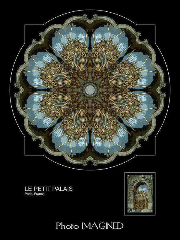Kaleidoscope Poster featuring the digital art Le Petit Palais by Mike Johnson