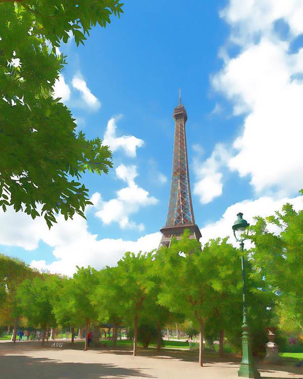 Paris Poster featuring the photograph Le Tour Eiffel by Allan Van Gasbeck