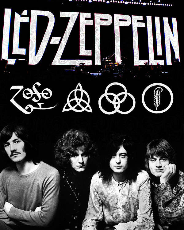Led Poster featuring the digital art Led Zeppelin by FHT Designs