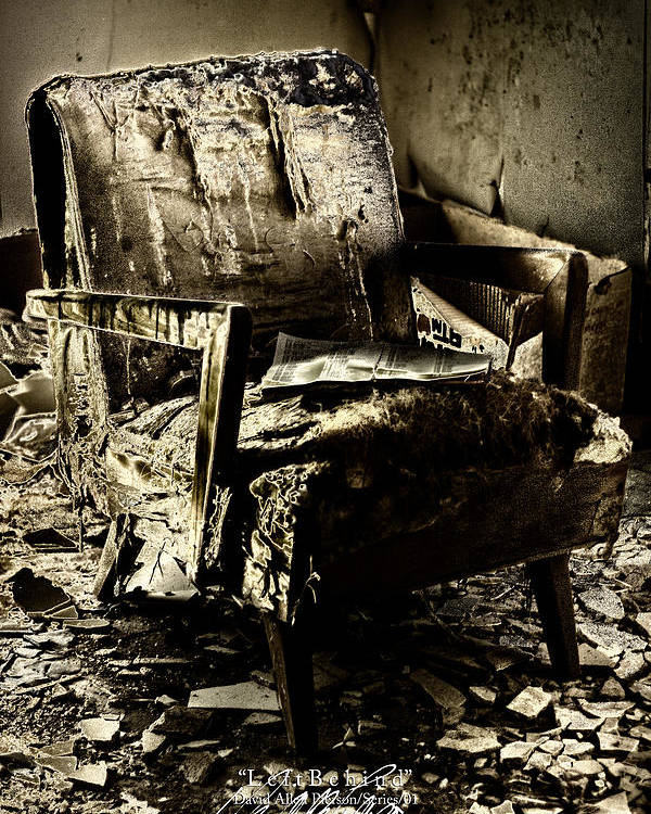 Chair Photographs Poster featuring the photograph Left Behind-series 01 by David Allen Pierson