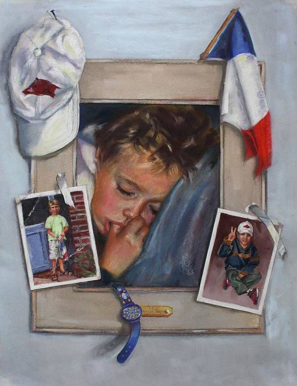 France Poster featuring the painting Leo by Vicki Ross