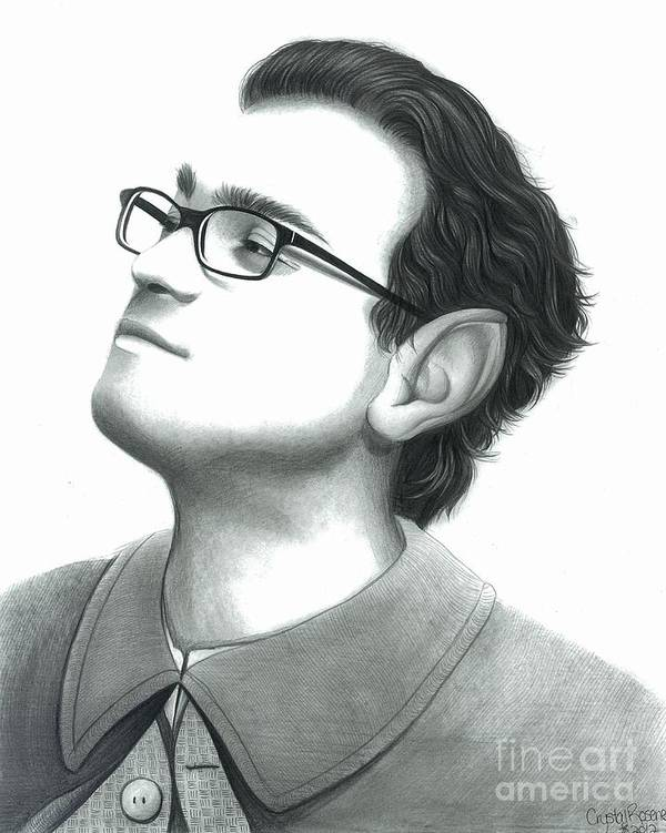 Leonard Hofstadter Poster featuring the drawing Leonard As Frodo by Crystal Rosene