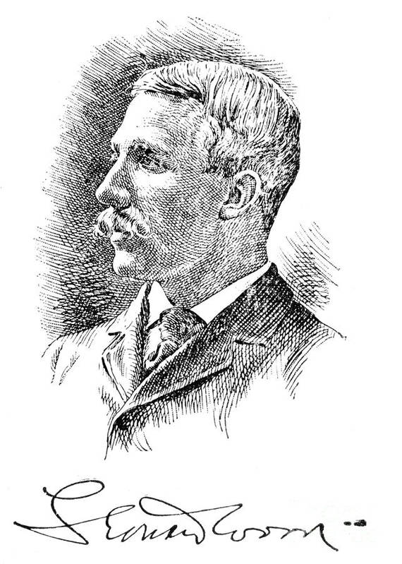 1890s Poster featuring the photograph Leonard Wood (1860-1927) by Granger