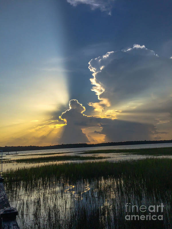 Sunset Poster featuring the photograph Let There Be Light by Dale Powell