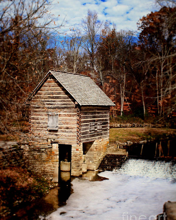 Levi Poster featuring the photograph Levi Jackson Park Water Mill by Stephanie Frey