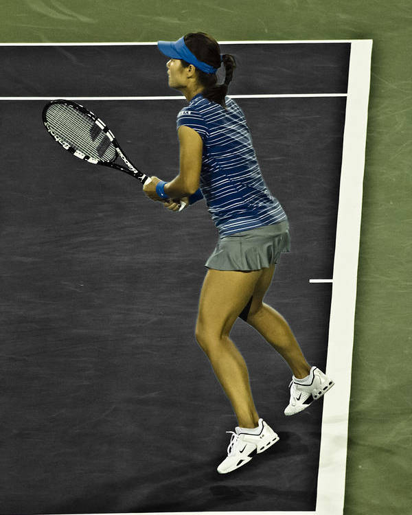 Li Na Poster featuring the photograph Li Na by Rexford L Powell