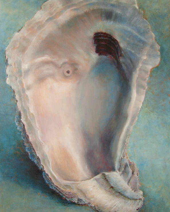 Oyster Poster featuring the painting Libby's Oyster by Pam Talley
