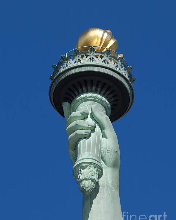 Statue Poster featuring the photograph Liberty Torch by Brian Jannsen