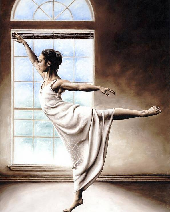 Dance Poster featuring the painting Light Elegance by Richard Young