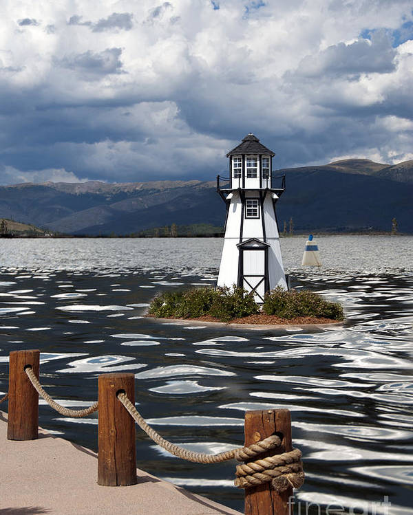 Building Exterior Poster featuring the photograph Lighthouse In Lake Dillon by Juli Scalzi