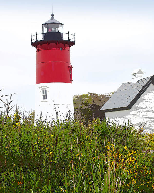Nauset Light Poster featuring the photograph Lighthouse Of Memories by Michelle Wiarda-Constantine