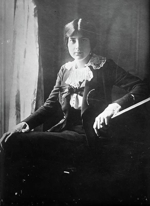 1918 Poster featuring the photograph Lili Boulanger (1893-1918) by Granger