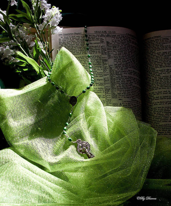 Bible Poster featuring the photograph Lily Of The Valley Rosary by Diana Lehmann