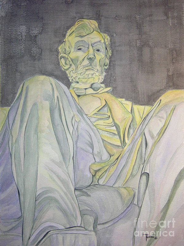 Presidents Poster featuring the painting Lincoln by Regan J Smith