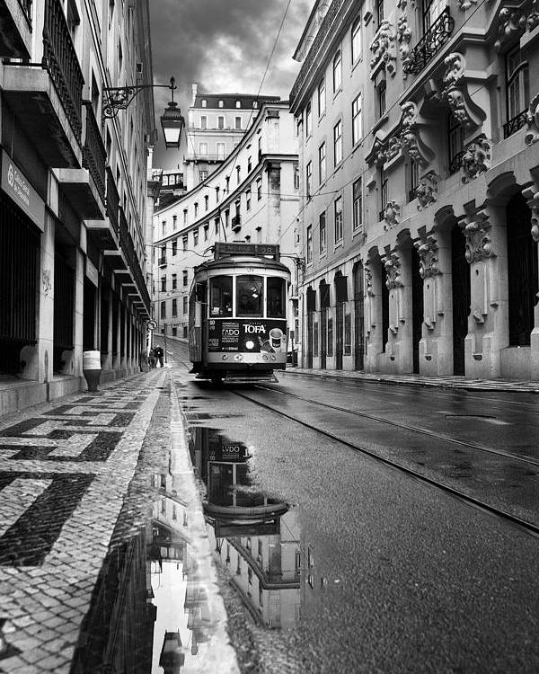 Lisbon Poster featuring the photograph Lisbon by Jorge Maia