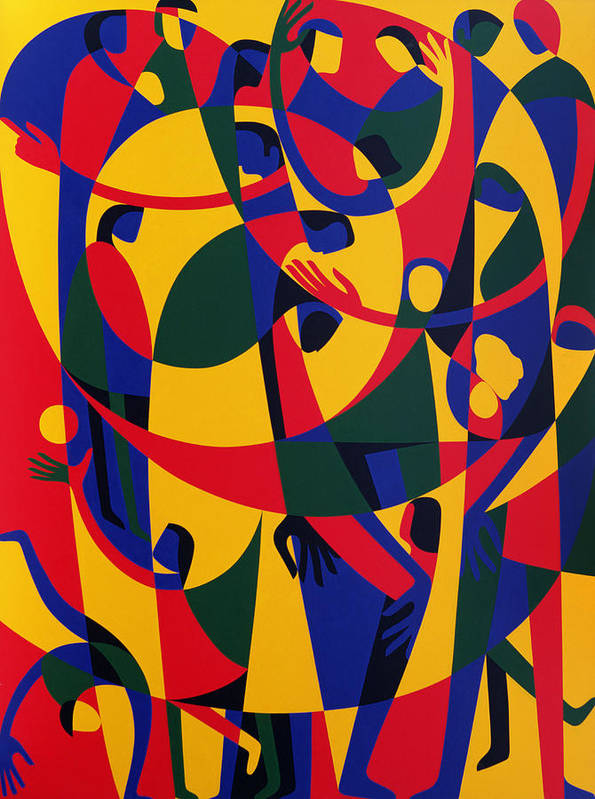 Pattern Poster featuring the painting Live Adventurously by Ron Waddams