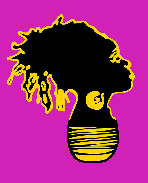 African Poster featuring the digital art Locks Of Light 2 by Duwayne Washington
