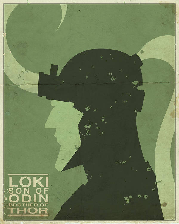 Loki Poster featuring the digital art Loki - Son Of Odin by Michael Myers