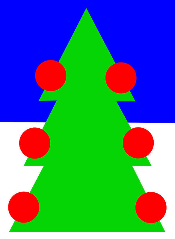 Lonely Christmas Tree Wishes You A Merry Christmas Poster featuring the digital art Lonely Christmas Tree wishes you a Merry Christmas by Asbjorn Lonvig