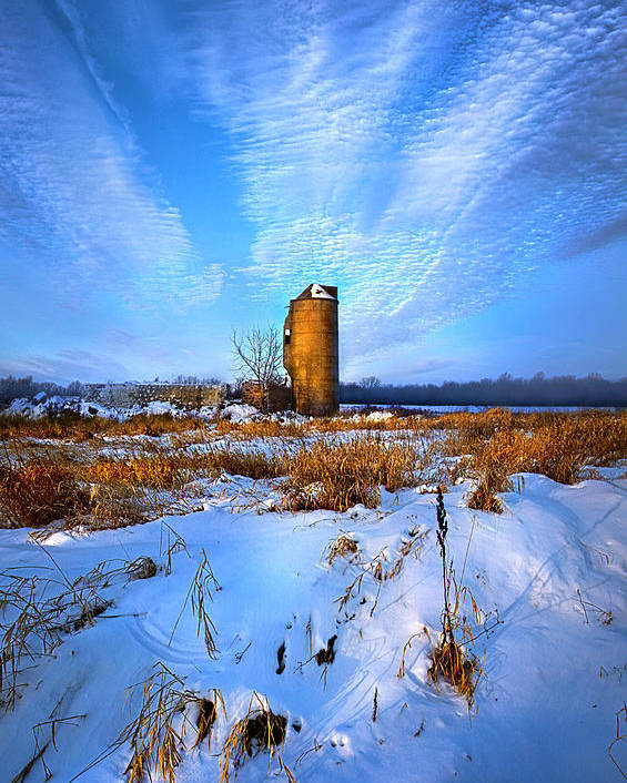 Silo Poster featuring the photograph Longing For Some Solitary Company by Phil Koch