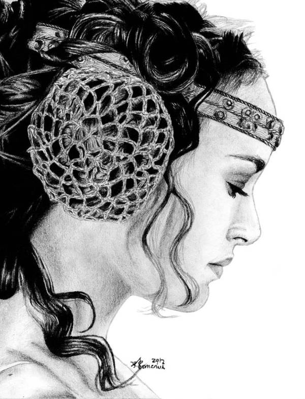 Padme Poster featuring the drawing Lost In A Senator's Thoughts by Kayleigh Semeniuk