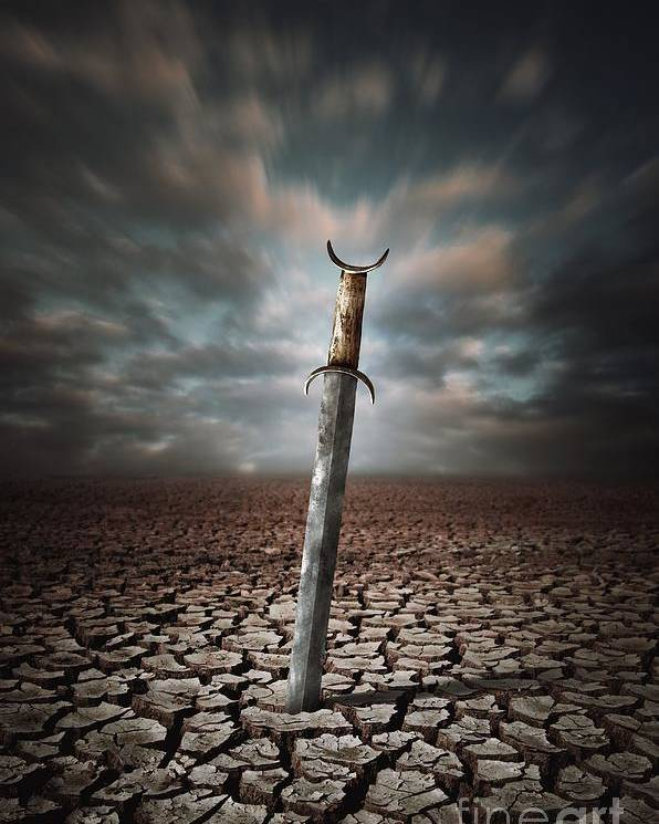 Drought Poster featuring the photograph Lost Sword by Carlos Caetano