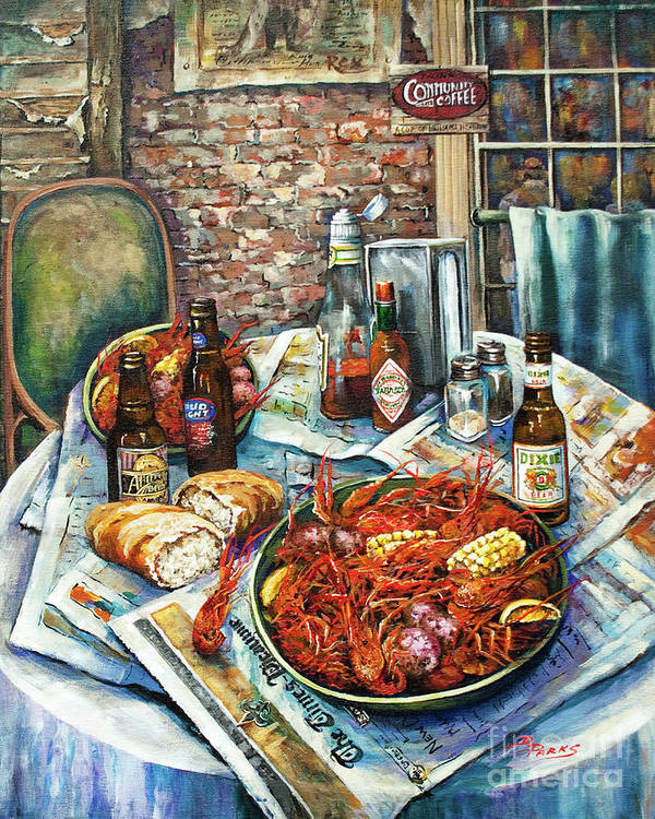 New Orleans Art Poster featuring the painting Louisiana Saturday Night by Dianne Parks