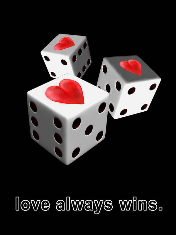 Love Poster featuring the digital art Love Always Wins by Miki De Goodaboom