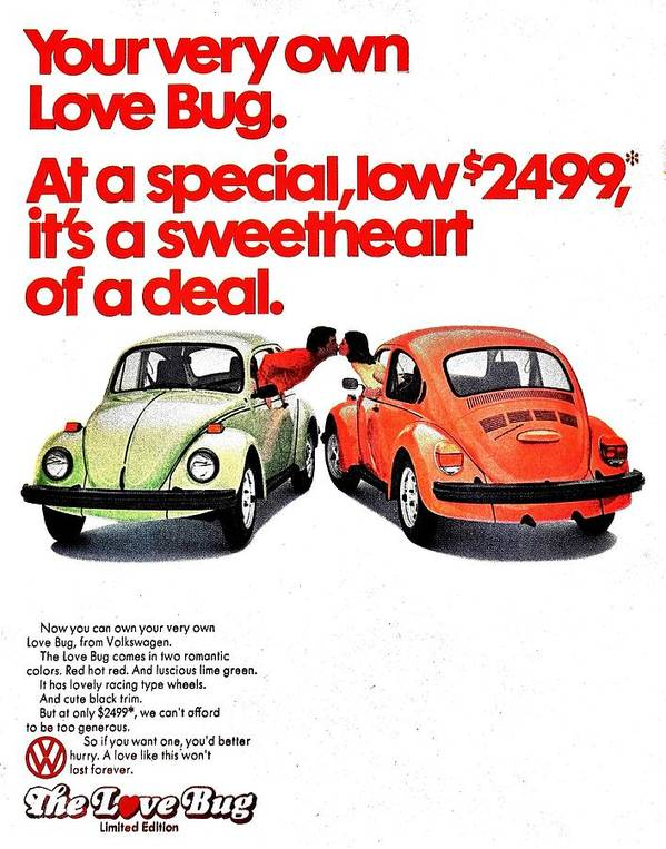 Volkswagen Poster featuring the photograph Love Bug by Benjamin Yeager