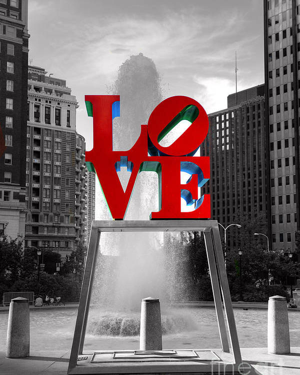 Paul Ward Poster featuring the photograph Love Isn't Always Black And White by Paul Ward