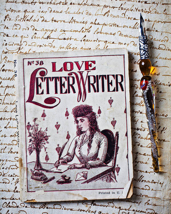 Love Poster featuring the photograph Love Letter Writer Book by Garry Gay
